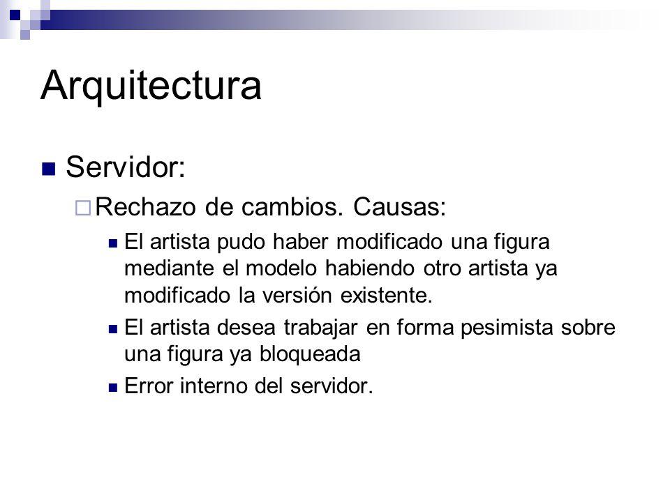 Arquitectura Servidor: Rechazo de cambios. Causas: