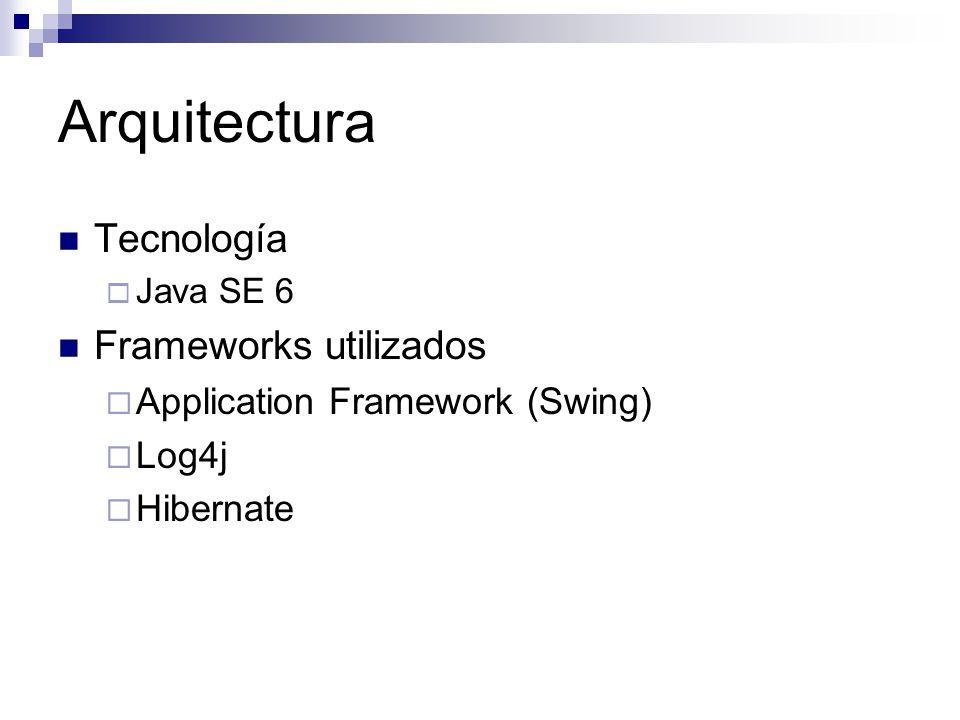 Arquitectura Tecnología Frameworks utilizados