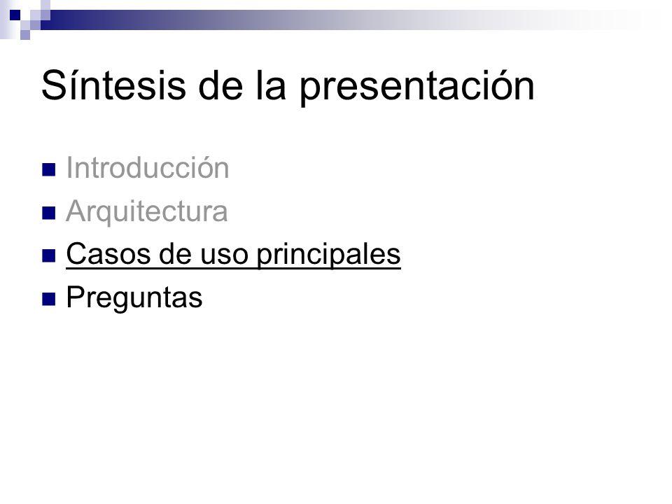 Síntesis de la presentación