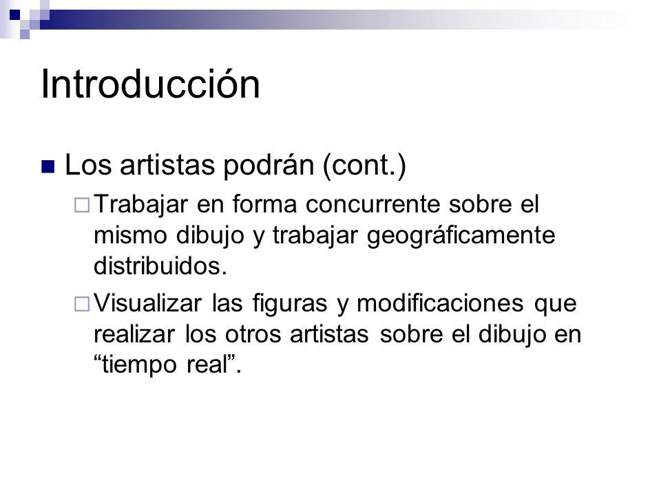 Introducción Los artistas podrán (cont.)