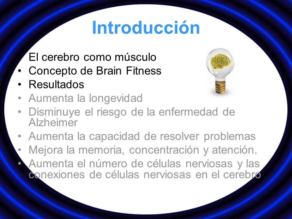 Introducción El cerebro como músculo Concepto de Brain Fitness