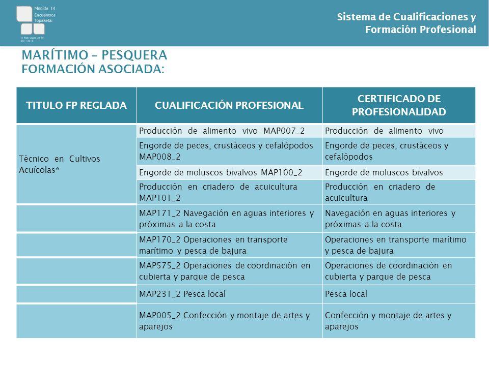 CUALIFICACIÓN PROFESIONAL CERTIFICADO DE PROFESIONALIDAD