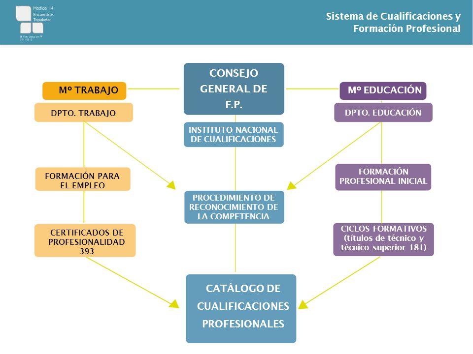 CONSEJO GENERAL DE F.P. CATÁLOGO DE CUALIFICACIONES PROFESIONALES