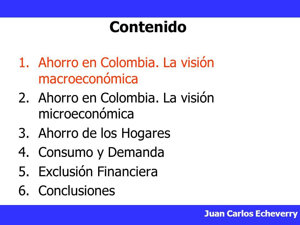 Contenido Ahorro en Colombia. La visión macroeconómica