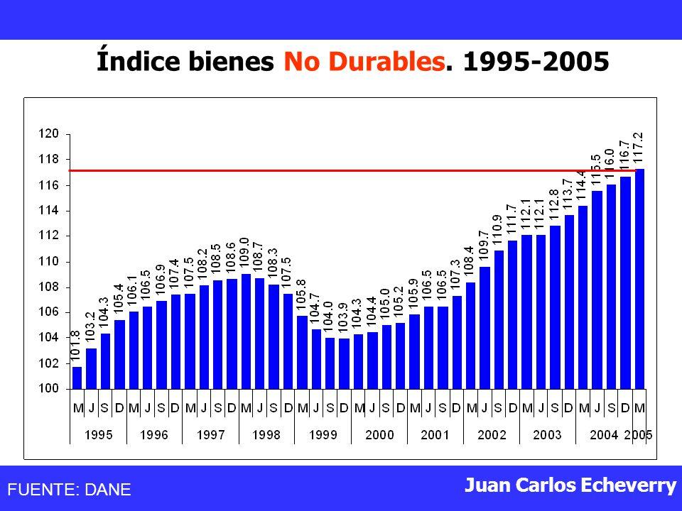 Índice bienes No Durables. 1995-2005
