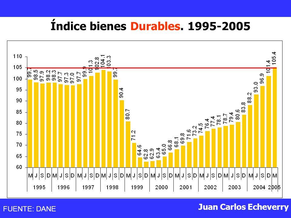 Índice bienes Durables. 1995-2005