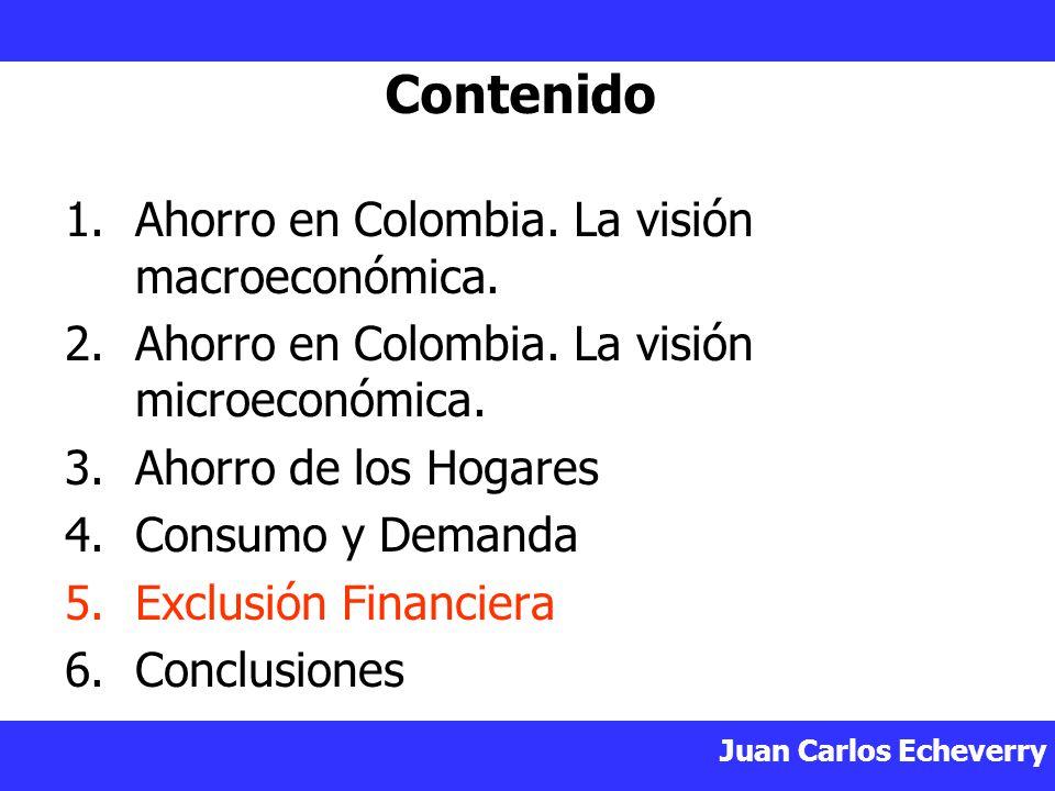 Contenido Ahorro en Colombia. La visión macroeconómica.