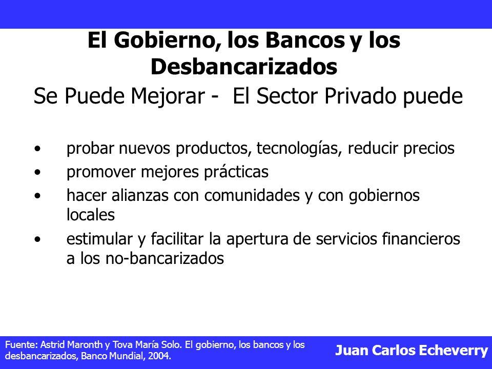 El Gobierno, los Bancos y los Desbancarizados