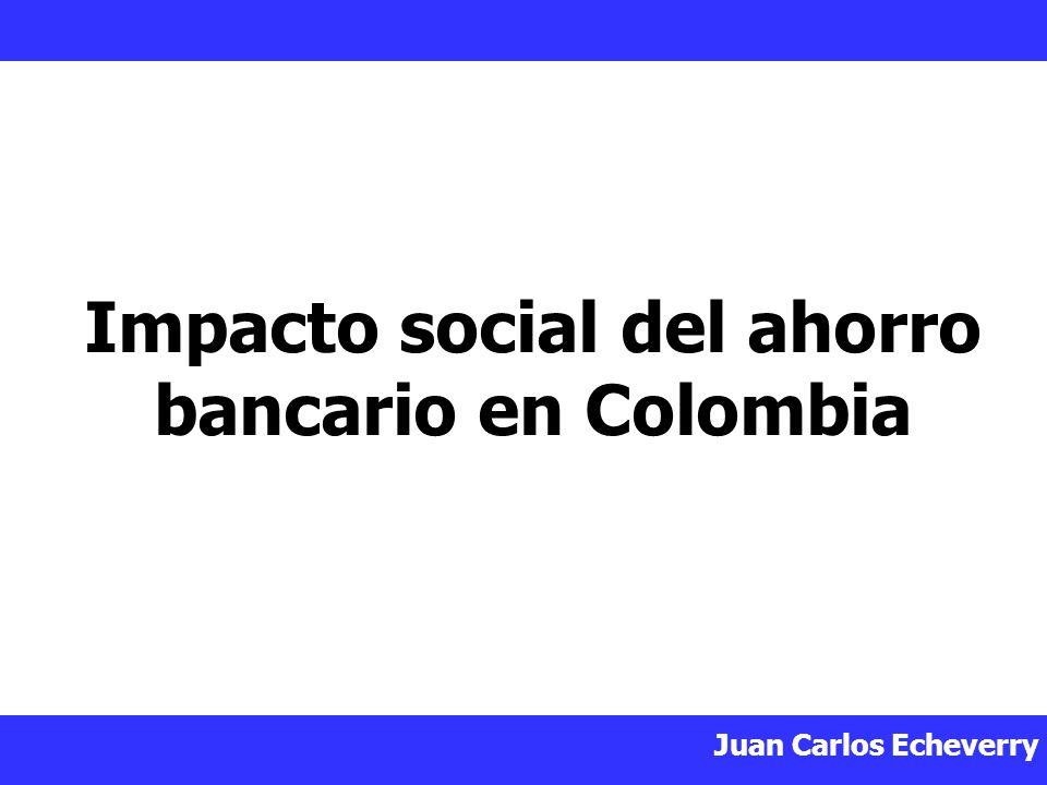 Impacto social del ahorro bancario en Colombia