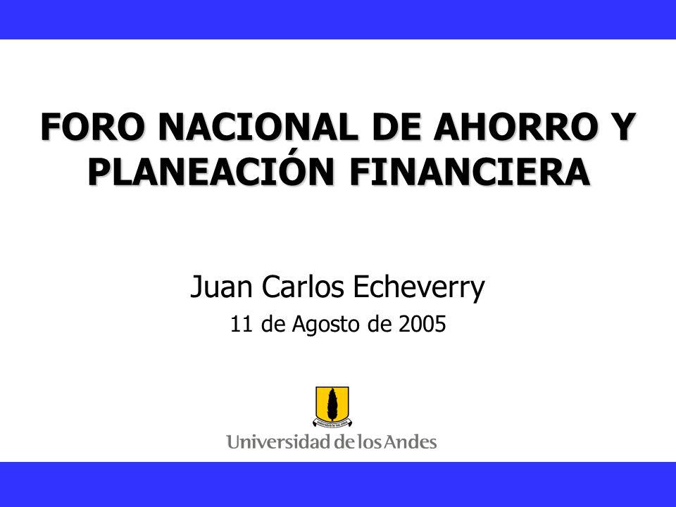 FORO NACIONAL DE AHORRO Y PLANEACIÓN FINANCIERA