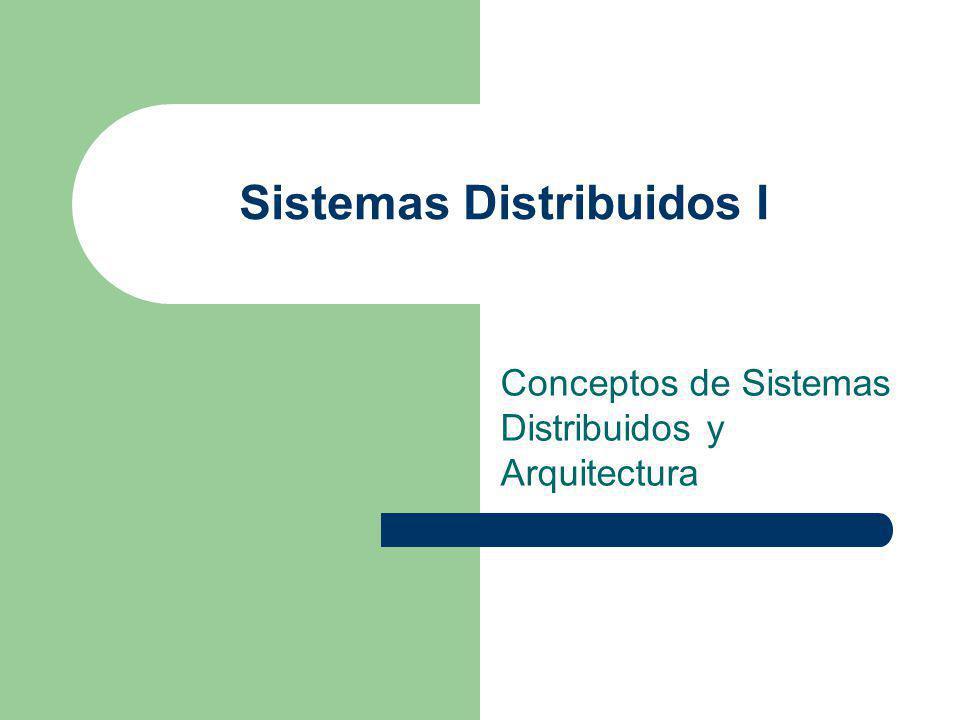 Sistemas Distribuidos I