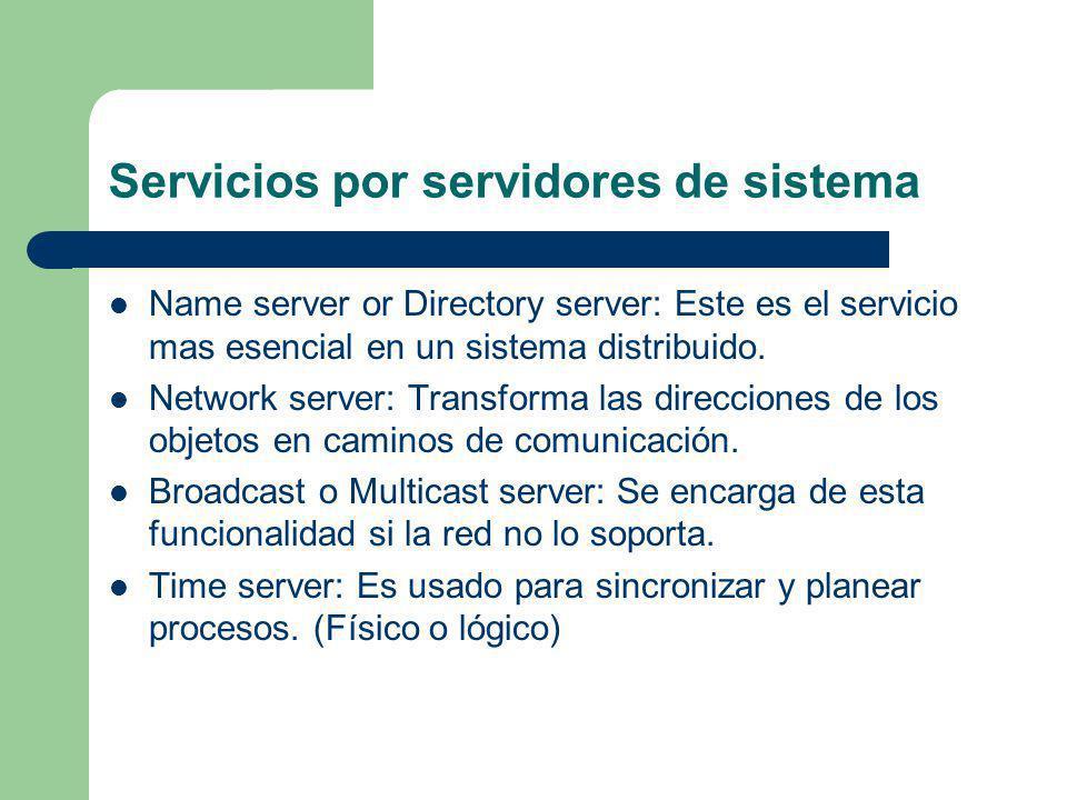 Servicios por servidores de sistema