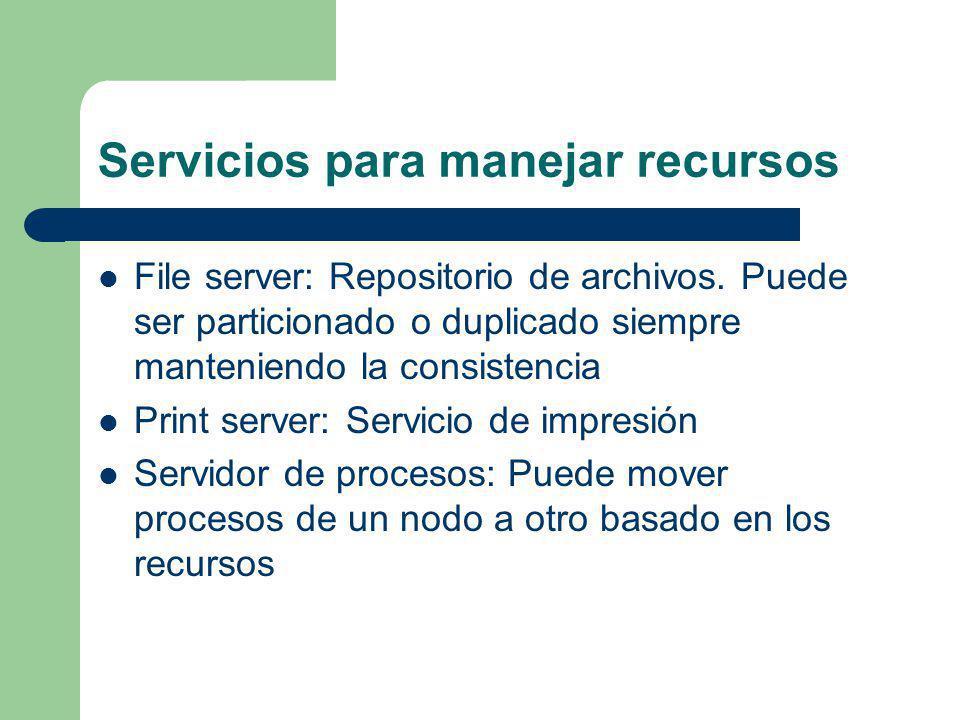 Servicios para manejar recursos