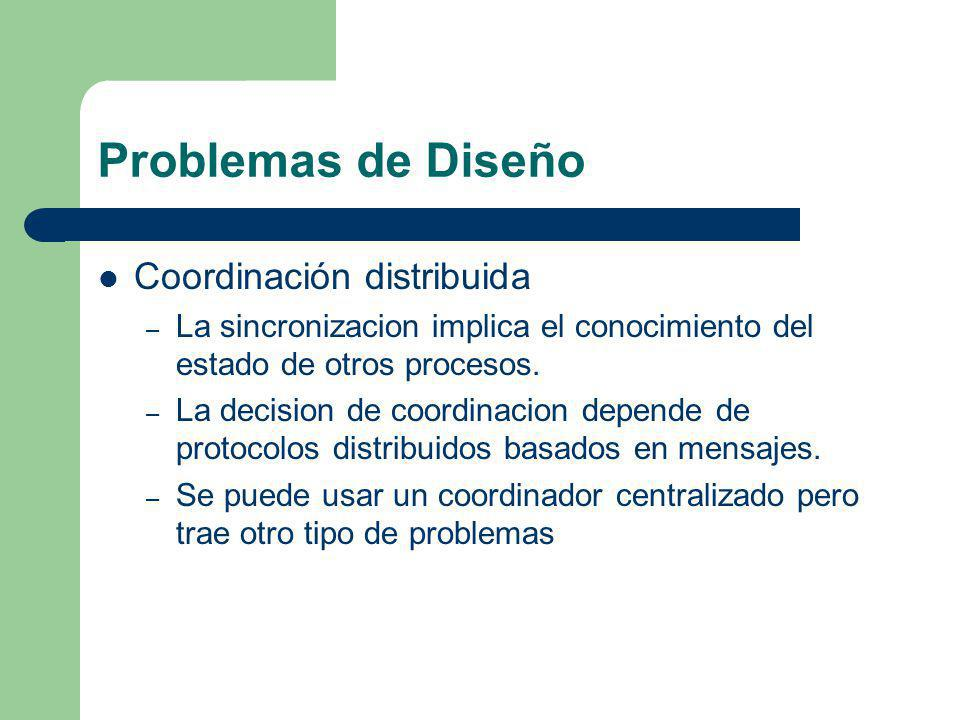 Problemas de Diseño Coordinación distribuida