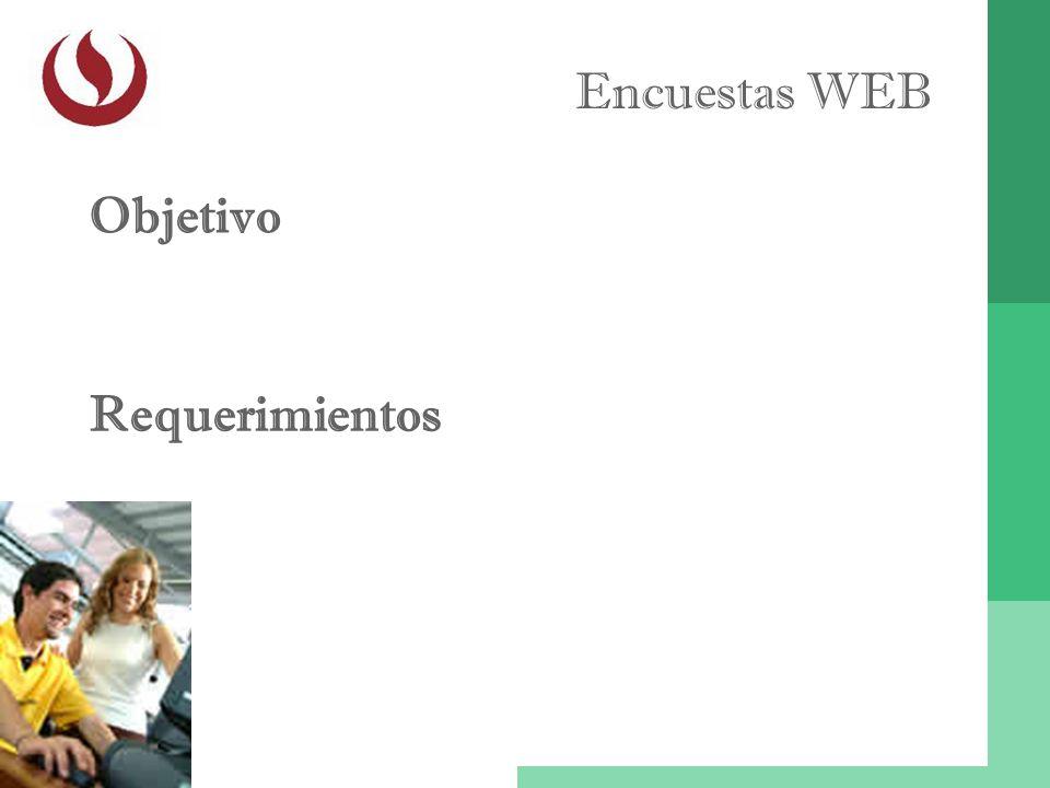 Encuestas WEB Objetivo Requerimientos