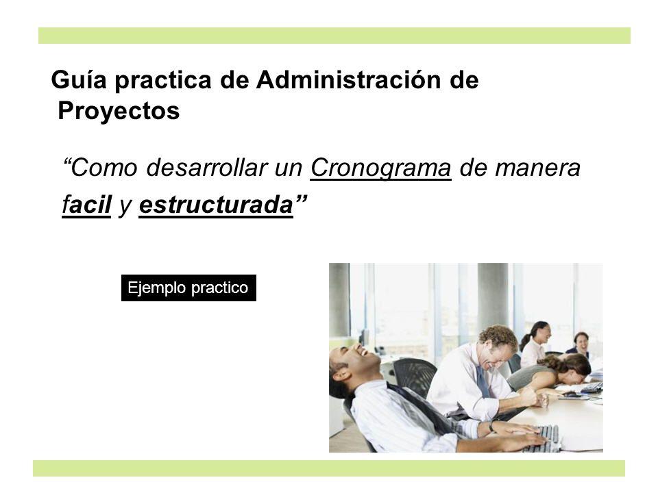 Guía practica de Administración de Proyectos
