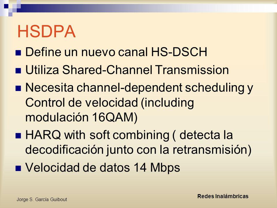 HSDPA Define un nuevo canal HS-DSCH