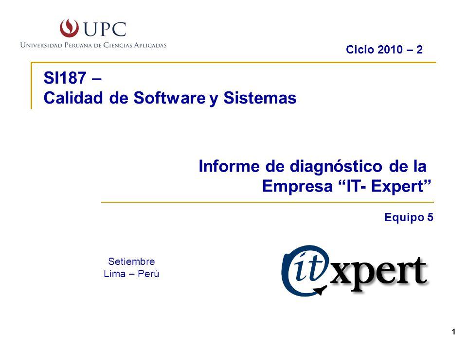 SI187 – Calidad de Software y Sistemas