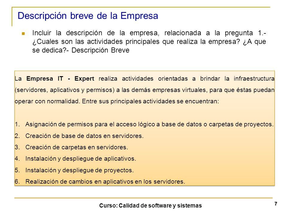 Descripción breve de la Empresa