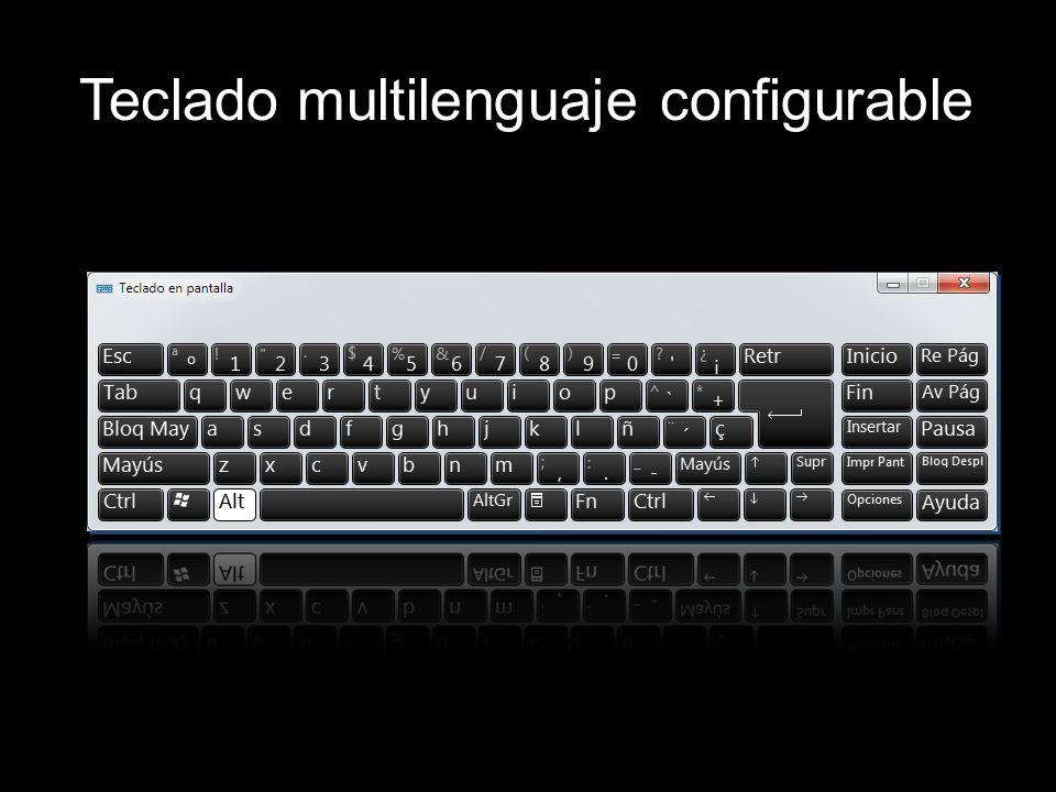 Teclado multilenguaje configurable
