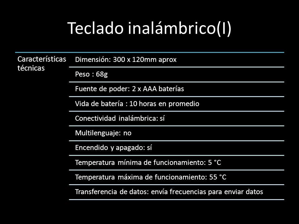 Teclado inalámbrico(I)