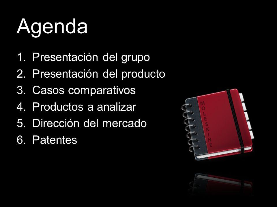 Agenda Presentación del grupo Presentación del producto