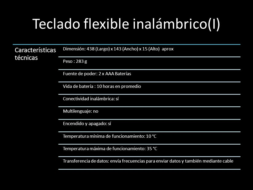 Teclado flexible inalámbrico(I)