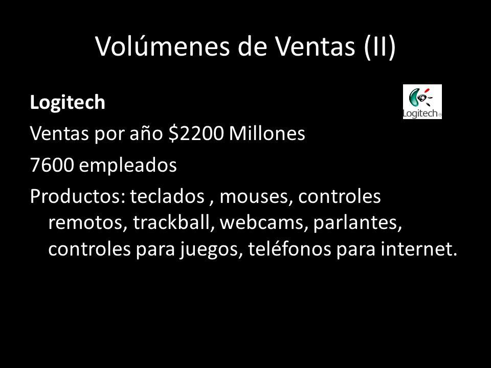 Volúmenes de Ventas (II)