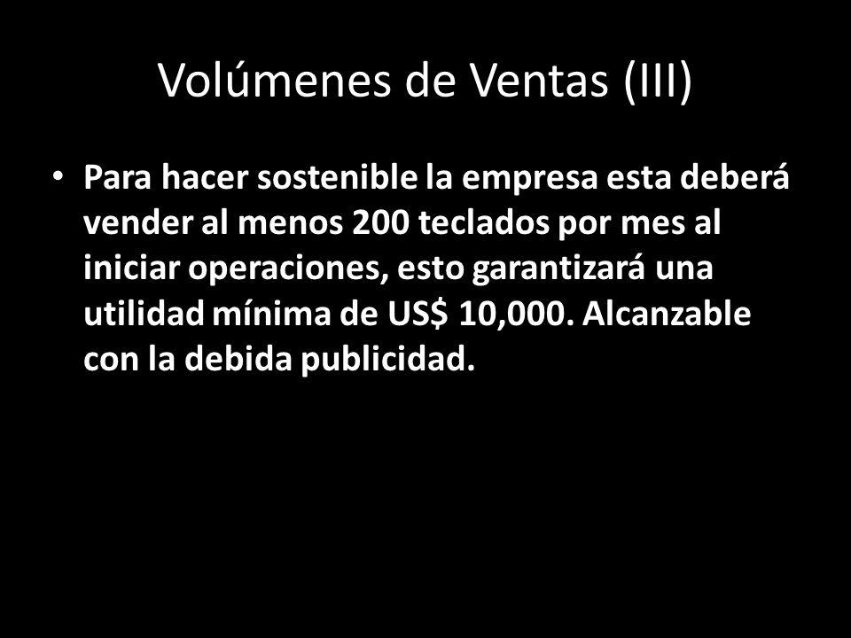 Volúmenes de Ventas (III)