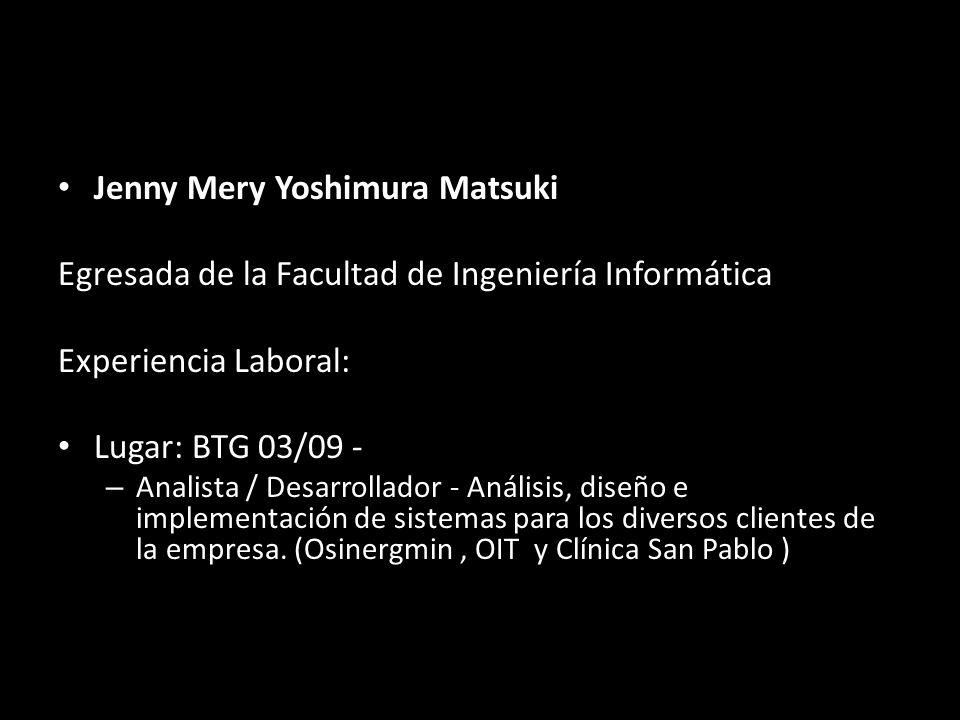 Jenny Mery Yoshimura Matsuki