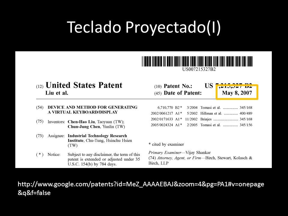 Teclado Proyectado(I)