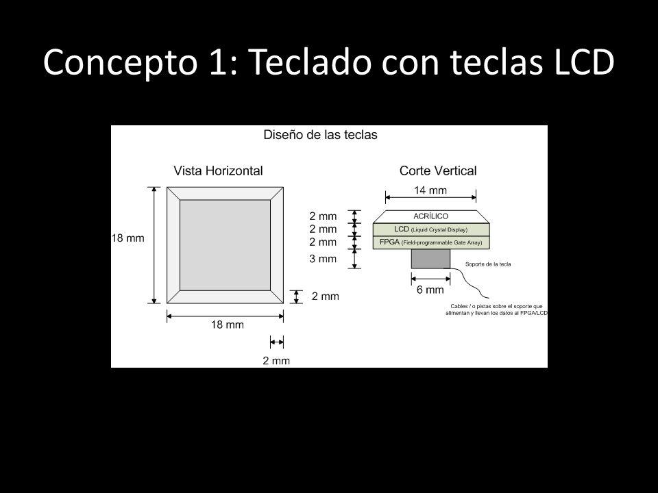 Concepto 1: Teclado con teclas LCD