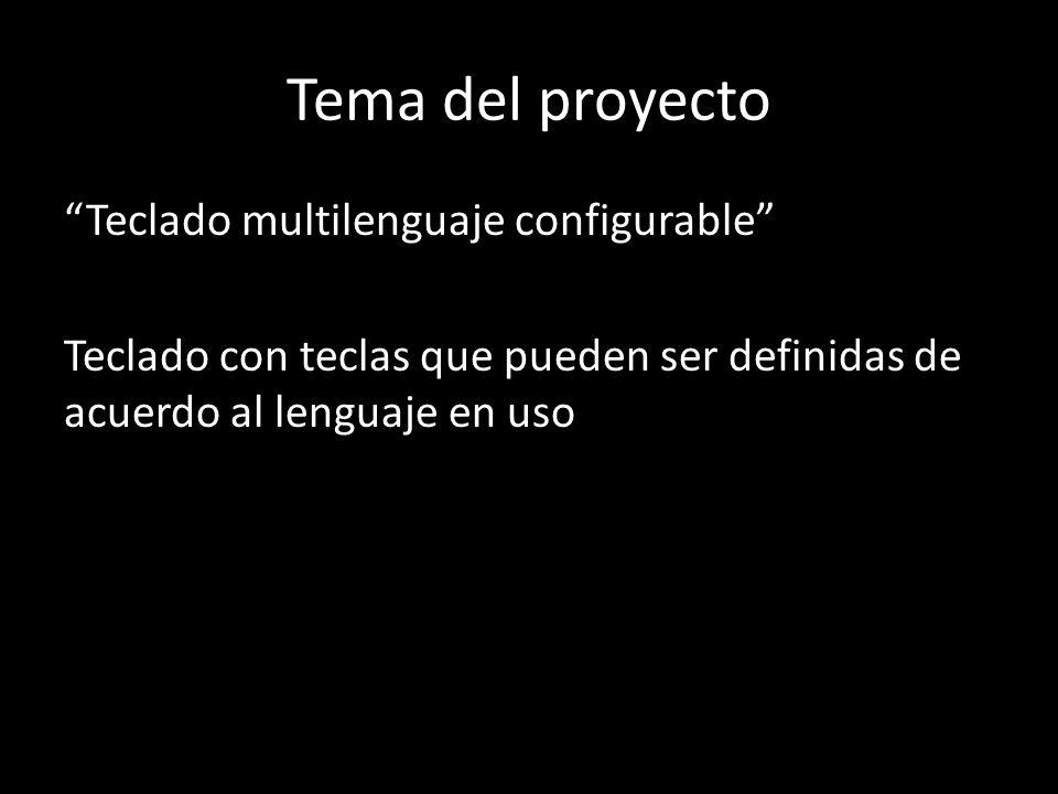 Tema del proyecto Teclado multilenguaje configurable