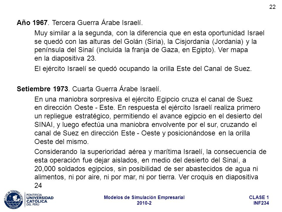 Año 1967. Tercera Guerra Árabe Israelí.