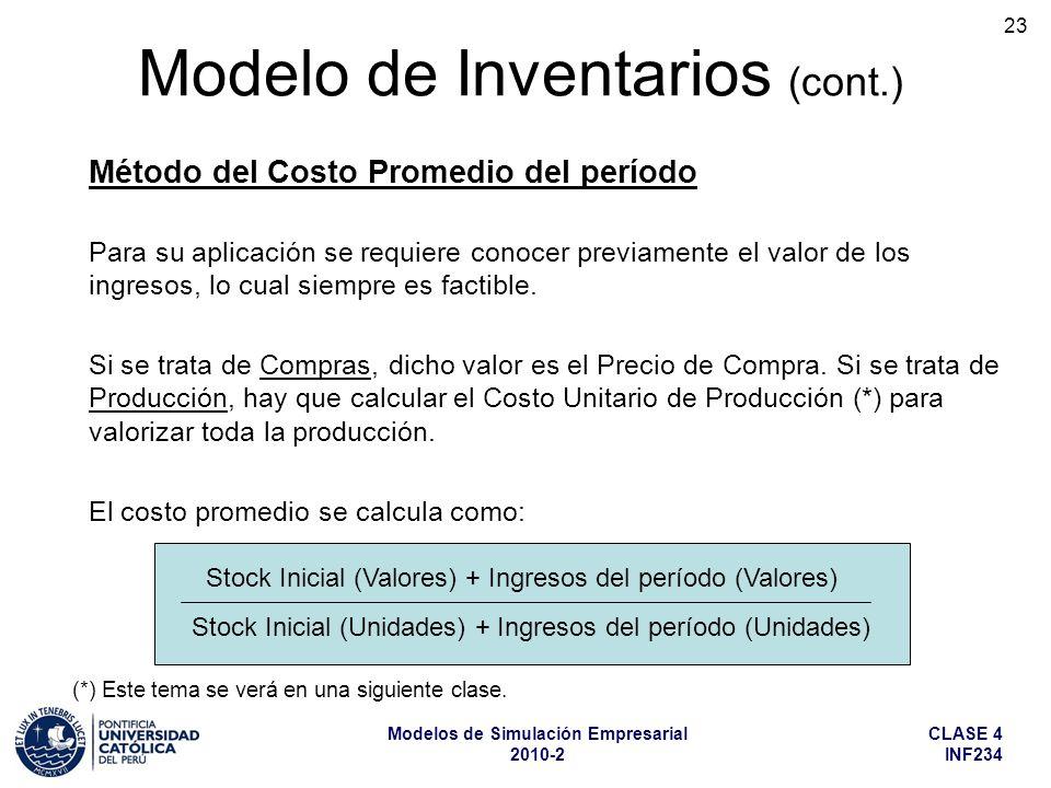 Modelo de Inventarios (cont.)