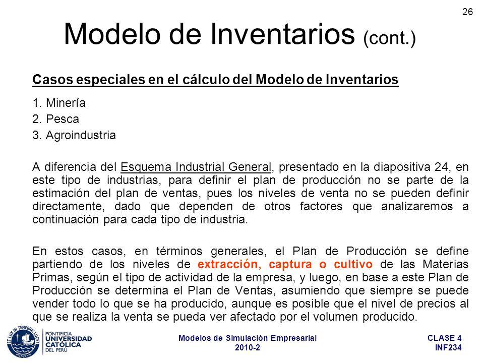 Casos especiales en el cálculo del Modelo de Inventarios