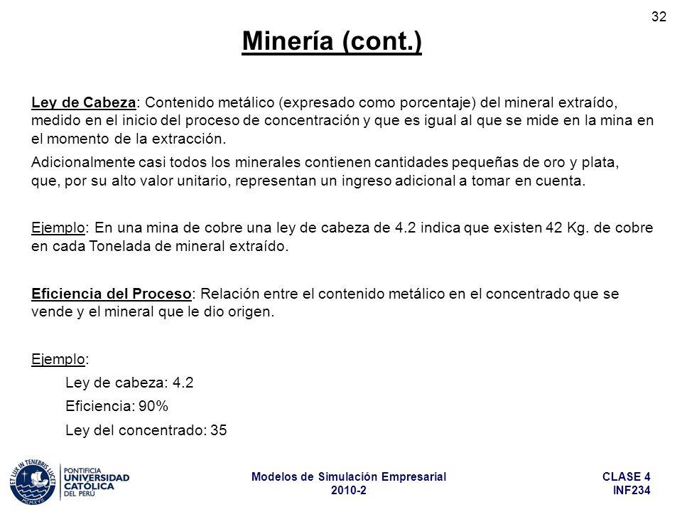 Minería (cont.)