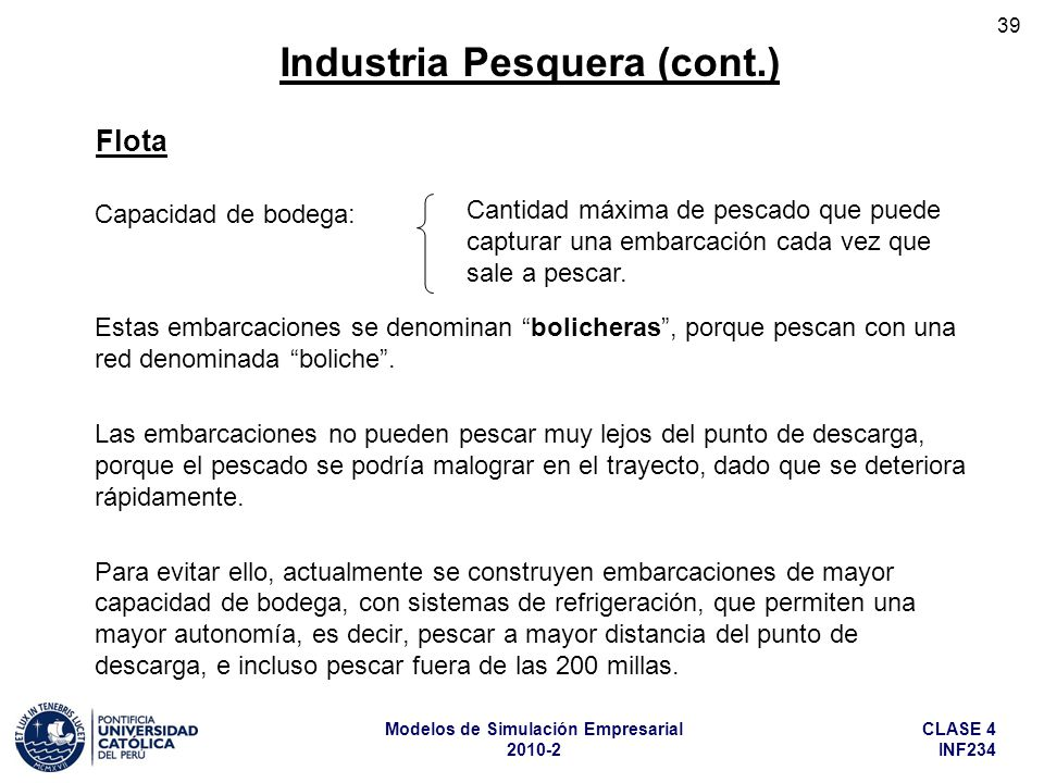 Industria Pesquera (cont.)
