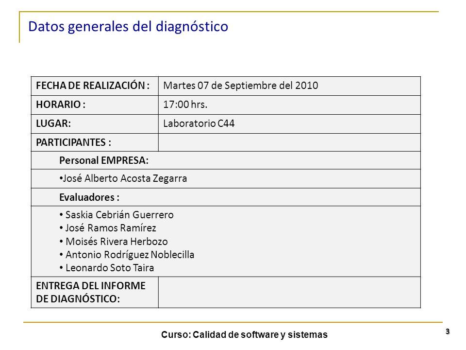 Datos generales del diagnóstico
