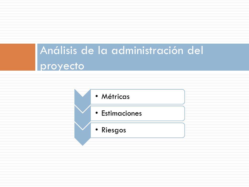 Análisis de la administración del proyecto