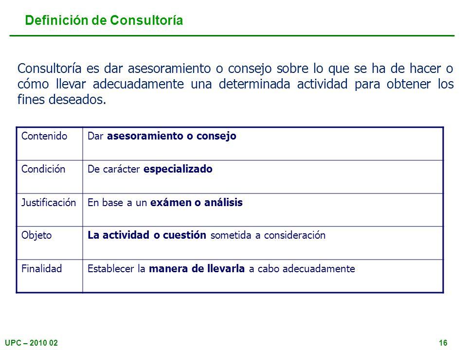 Definición de Consultoría