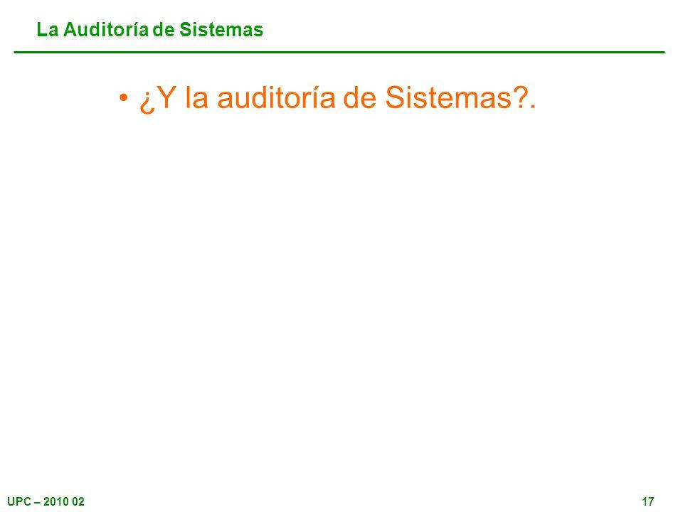 La Auditoría de Sistemas