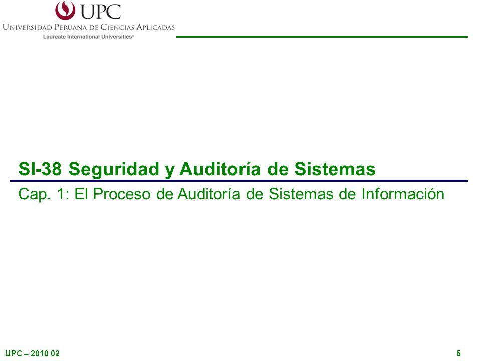 SI-38 Seguridad y Auditoría de Sistemas