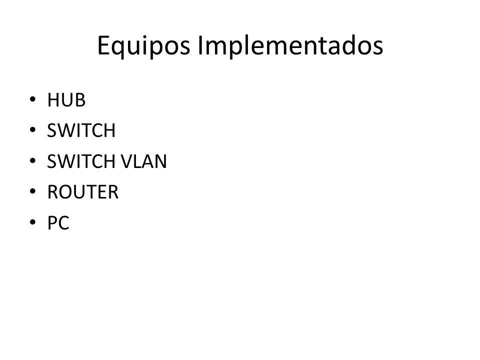 Equipos Implementados