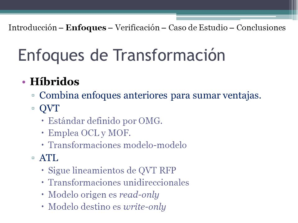 Enfoques de Transformación