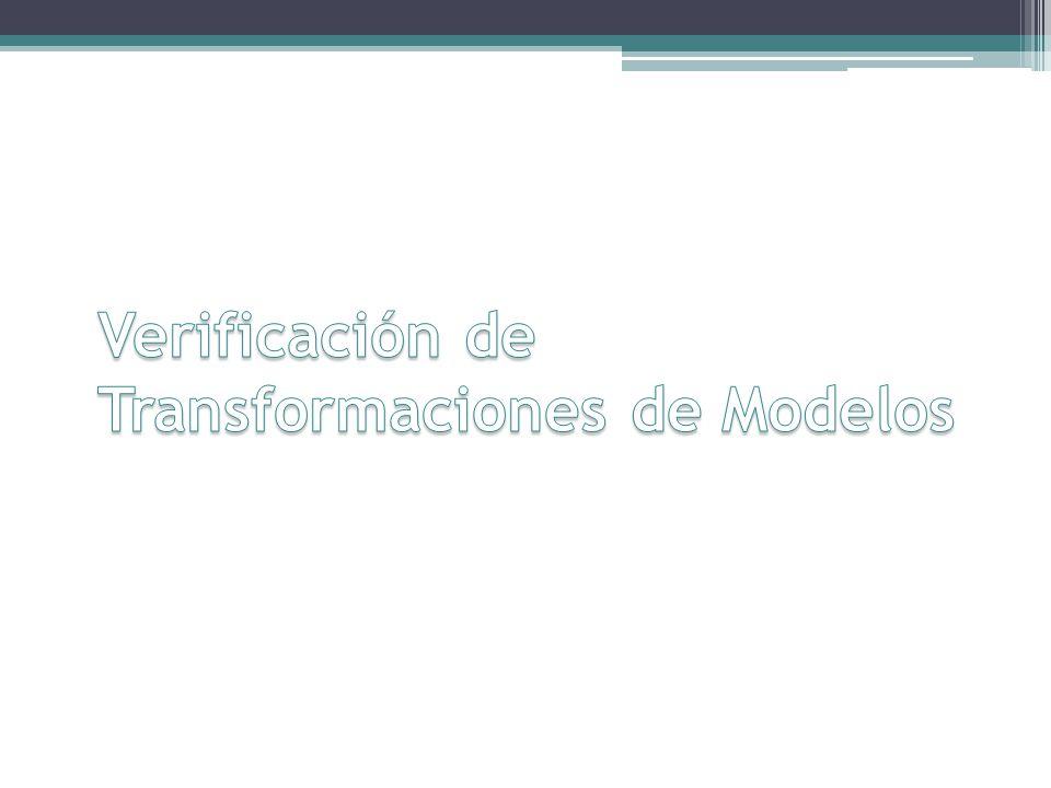 Verificación de Transformaciones de Modelos