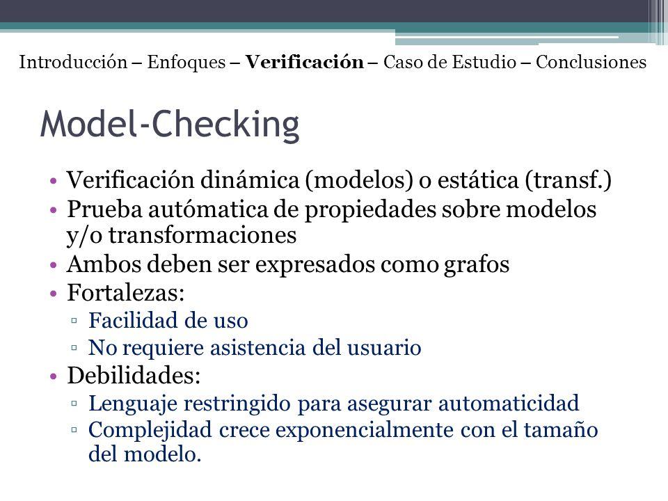 Model-Checking Verificación dinámica (modelos) o estática (transf.)