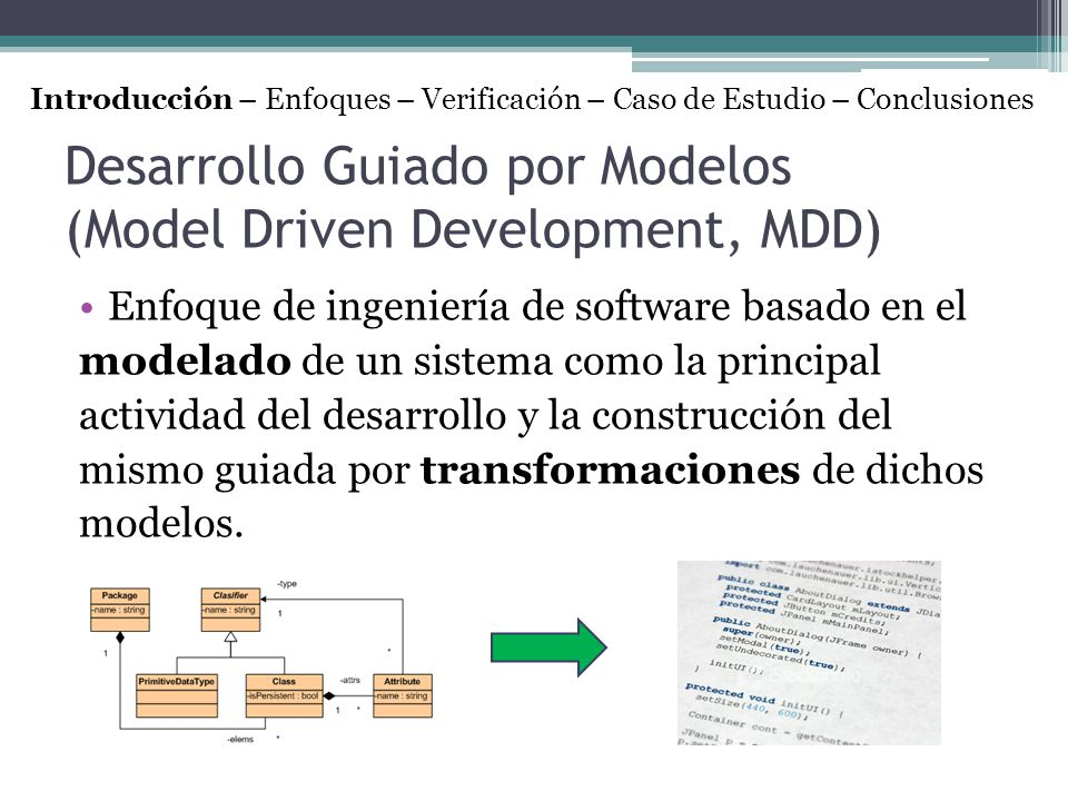 Desarrollo Guiado por Modelos (Model Driven Development, MDD)