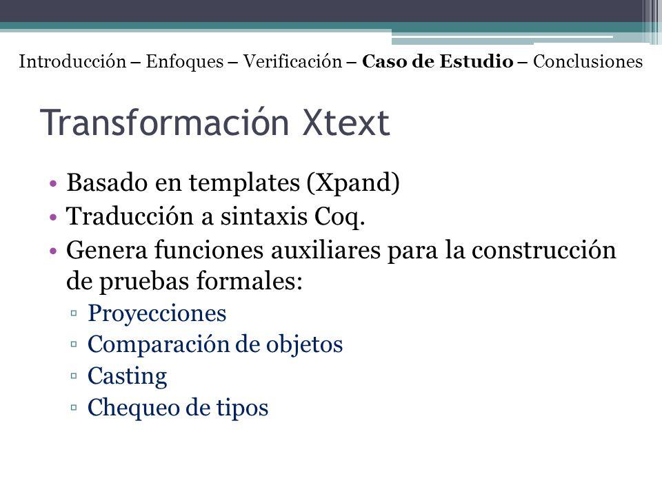Transformación Xtext Basado en templates (Xpand)