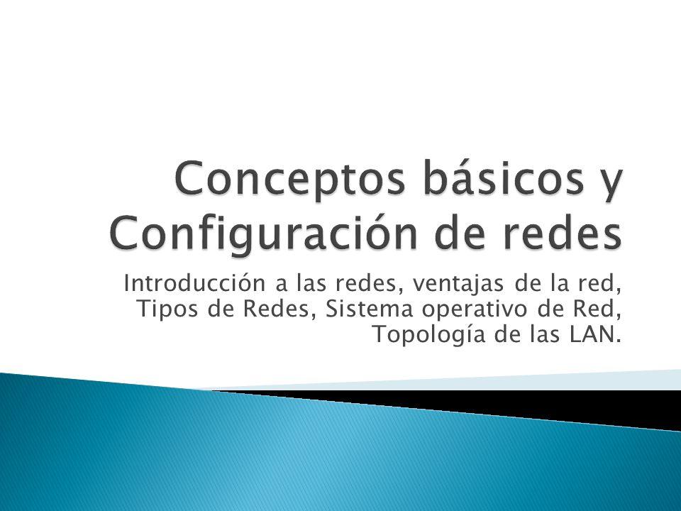 Conceptos básicos y Configuración de redes